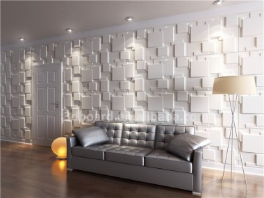 Verniciabile 3d wallpaper per pareti verde materiale decorativo ...